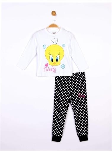 Tweety Tweety Lisanslı Çocuk Pijama Takım 19136 Siyah